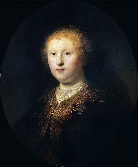 Portrait of a Young Woman (Circle of Rembrandt). Rembrandt Harmenszoon Van Rijn