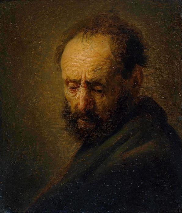 Head of a bearded man. Rembrandt Harmenszoon Van Rijn