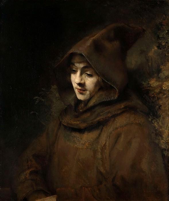 Rembrandts zoon Titus in monniksdracht. Rembrandt Harmenszoon Van Rijn