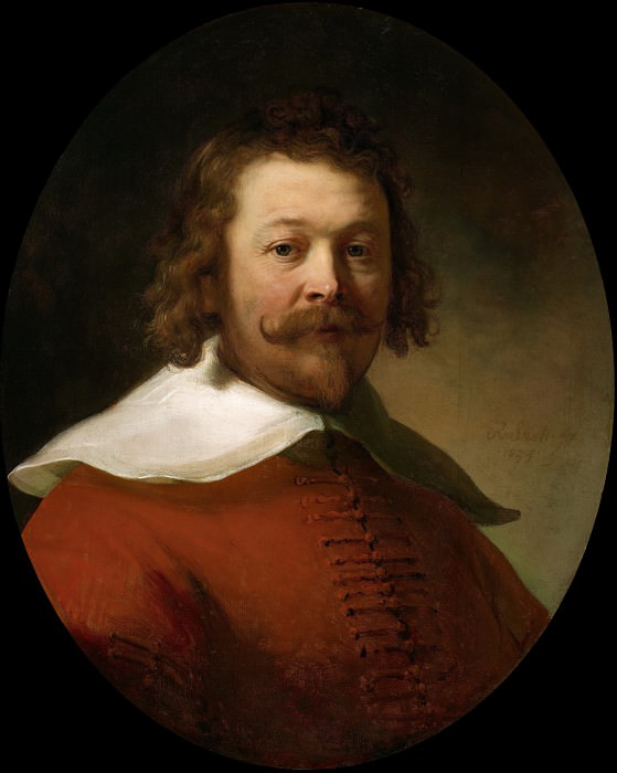 Портрет мужчины в красном дублете. Рембрандт Харменс ван Рейн