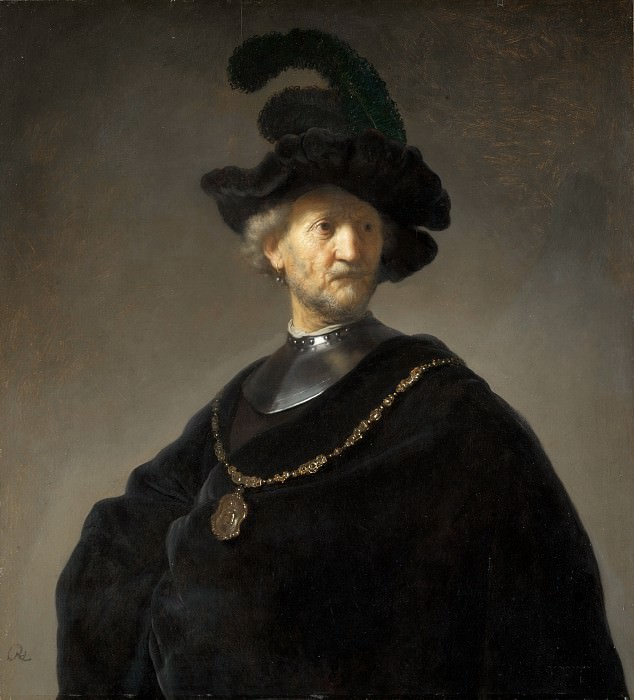 man in a gorget and black cap. Rembrandt Harmenszoon Van Rijn