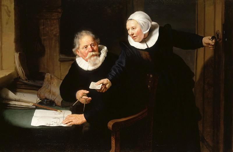 Портрет кораблестроителя Яна Рейксена с женой Греттой Янс. Рембрандт Харменс ван Рейн