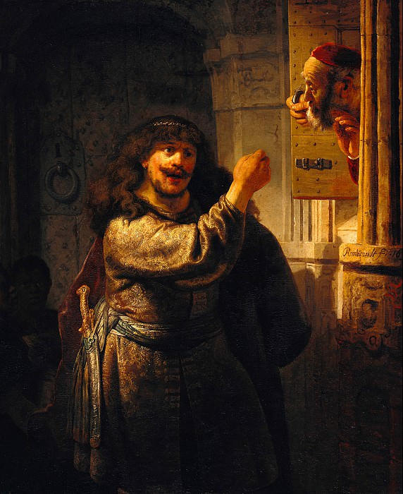 Rembrandt (1606-1669) - Simson threatened his father-in-law. Part 4
