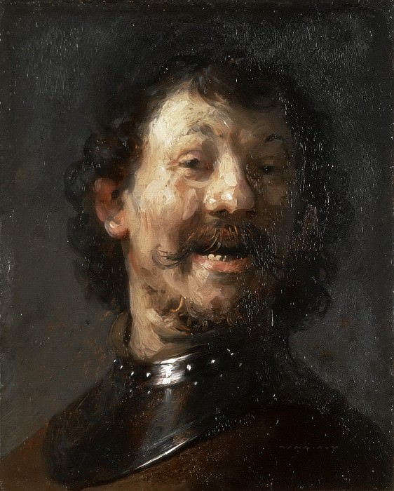 a Laughing Man in a Gorget. Rembrandt Harmenszoon Van Rijn