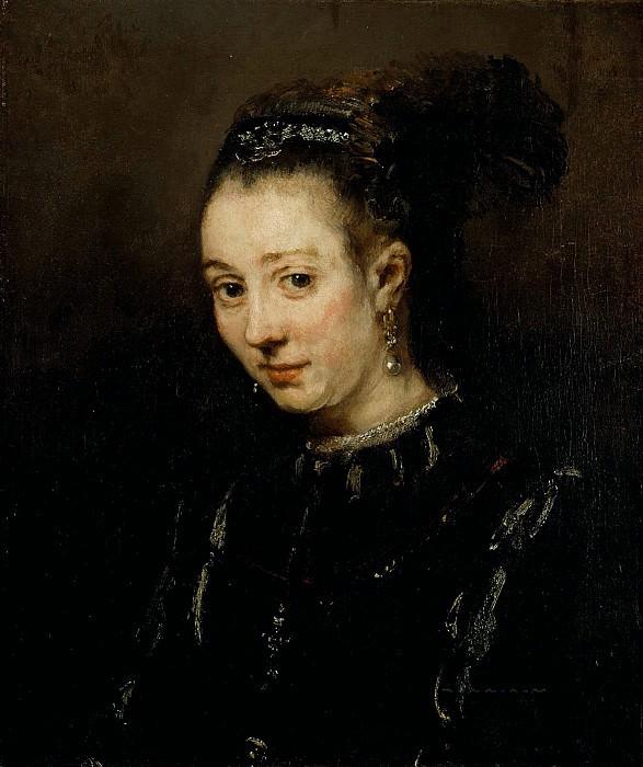 Портрет молодой женщины (возможно Магдалена ван Лон). Рембрандт Харменс ван Рейн