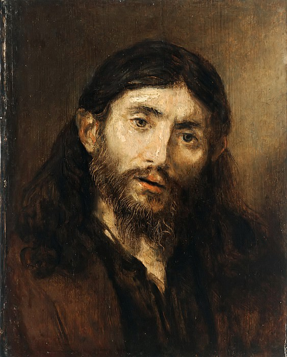 Head of Christ. Rembrandt Harmenszoon Van Rijn