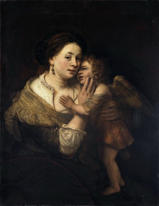 Venus and Amor (studio). Rembrandt Harmenszoon Van Rijn
