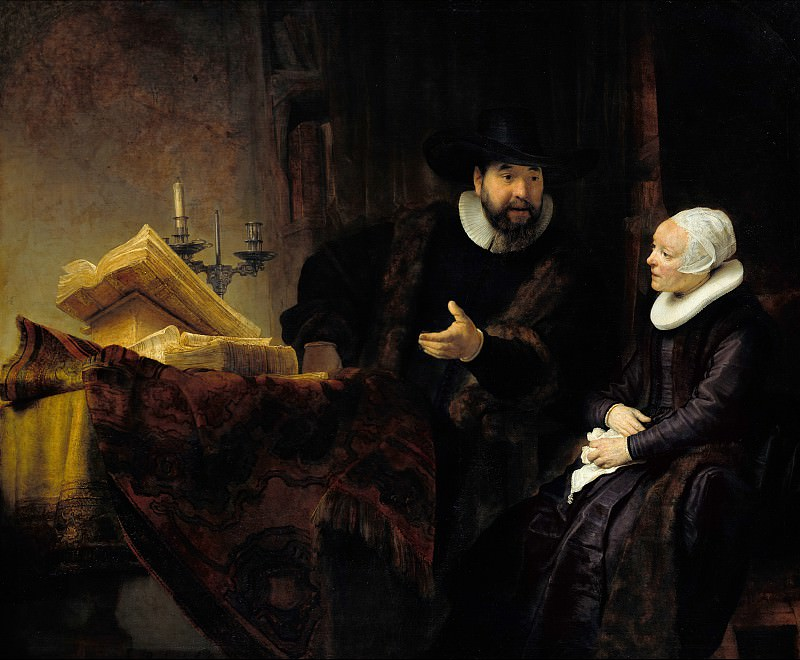 The Mennonite Preacher Anslo and his Wife. Rembrandt Harmenszoon Van Rijn