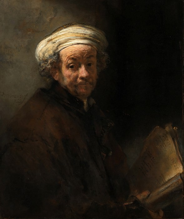Self-Portrait as St. Paul. Rembrandt Harmenszoon Van Rijn