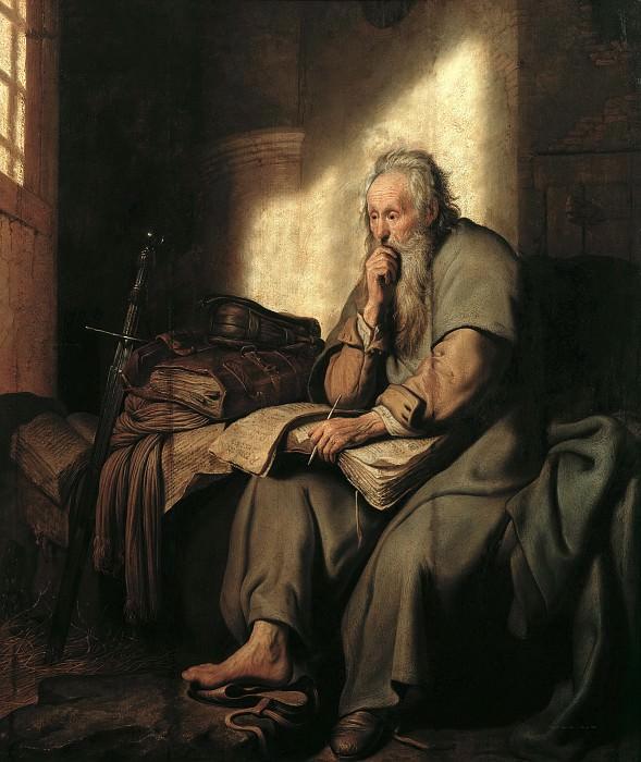 St. Paul in Prison. Rembrandt Harmenszoon Van Rijn