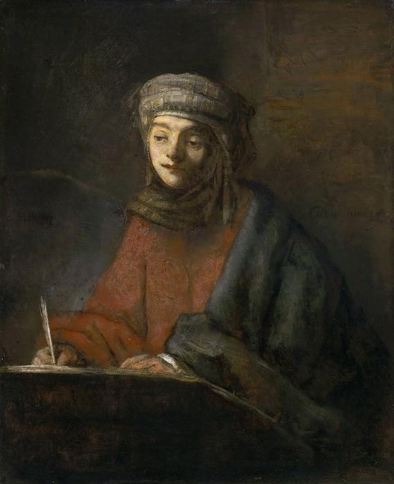 Evangelist writing (attributed). Rembrandt Harmenszoon Van Rijn