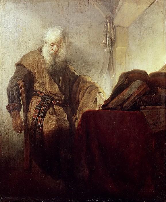 Saint Paul in Meditation. Rembrandt Harmenszoon Van Rijn