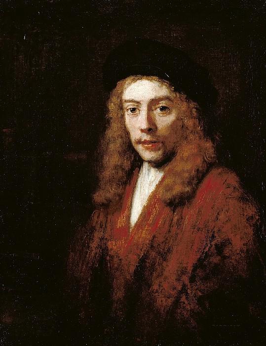 Портрет Титуса в берете (приписывается). Рембрандт Харменс ван Рейн