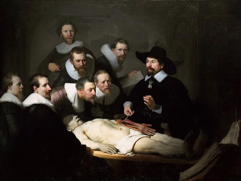 Anatomy Lesson of Dr. Tulip. Rembrandt Harmenszoon Van Rijn