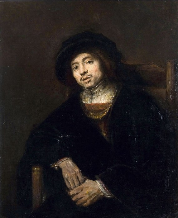 Portrait of a young man in an armchair. Rembrandt Harmenszoon Van Rijn
