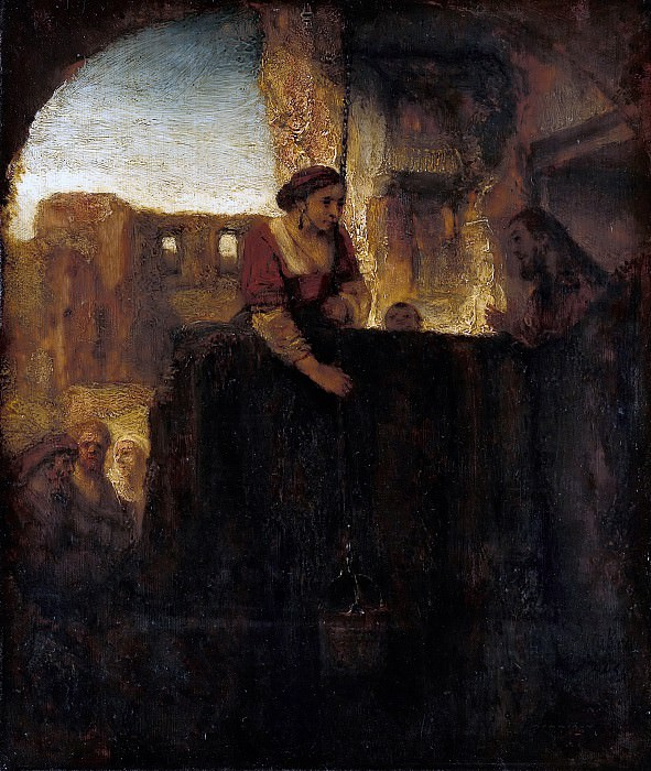 Rembrandt (1606-1669) - Christ and the Samaritan Woman at the Well. Part 4