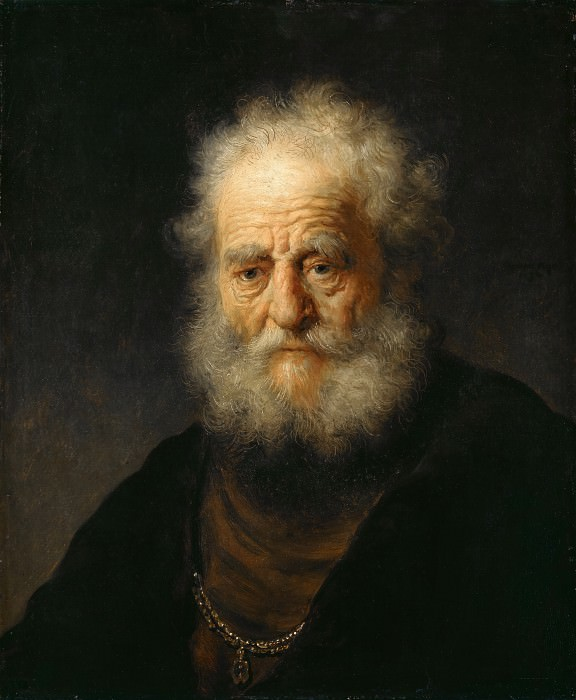 Old man wearing a gold chain. Rembrandt Harmenszoon Van Rijn