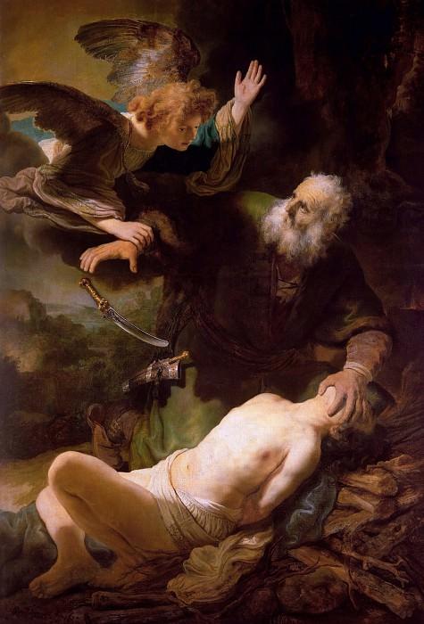 Sacrifice of Isaac. Rembrandt Harmenszoon Van Rijn