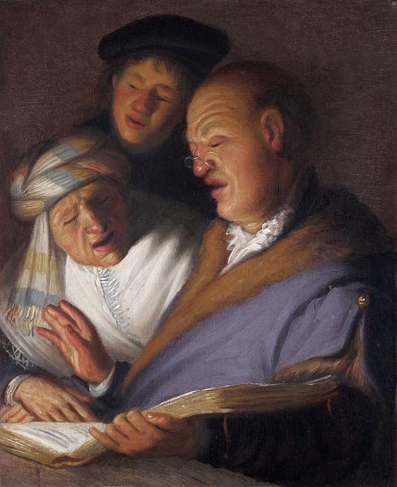 Три музыканта (Аллегория слуха). Рембрандт Харменс ван Рейн