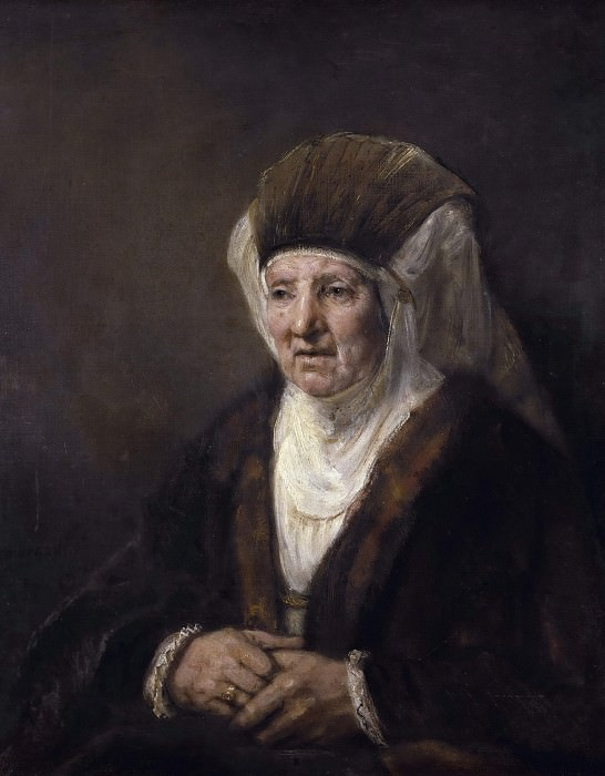 Portrait of an Old Woman. Rembrandt Harmenszoon Van Rijn
