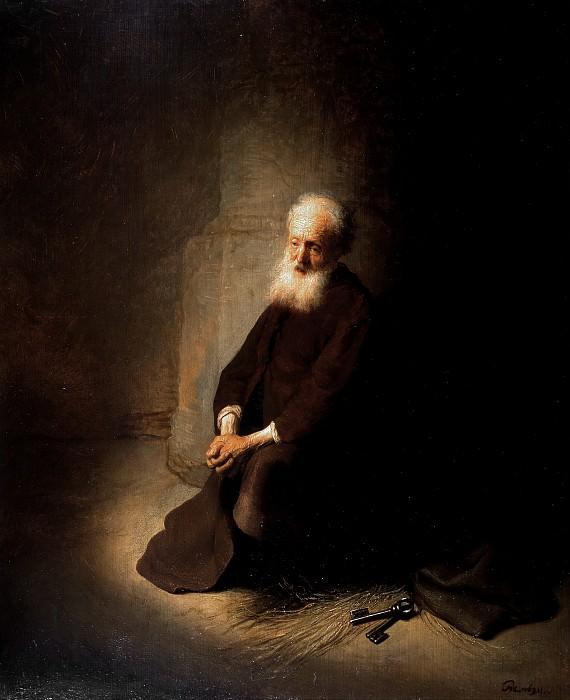 St. Peter in Prison. Rembrandt Harmenszoon Van Rijn