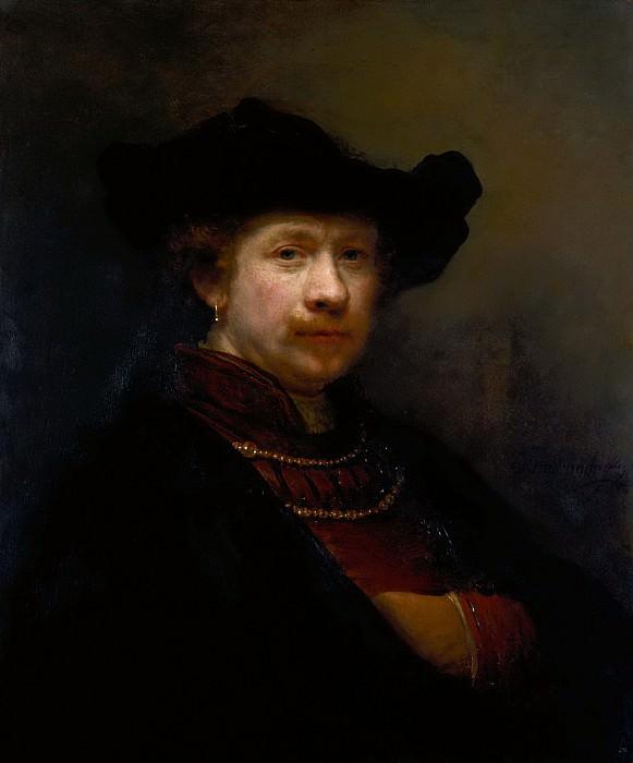Self-Portrait In A Flat Cap. Rembrandt Harmenszoon Van Rijn