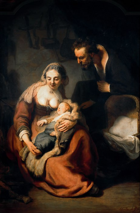 The Holy Family. Rembrandt Harmenszoon Van Rijn