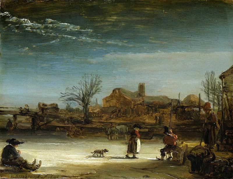 Winter Landscape. Rembrandt Harmenszoon Van Rijn