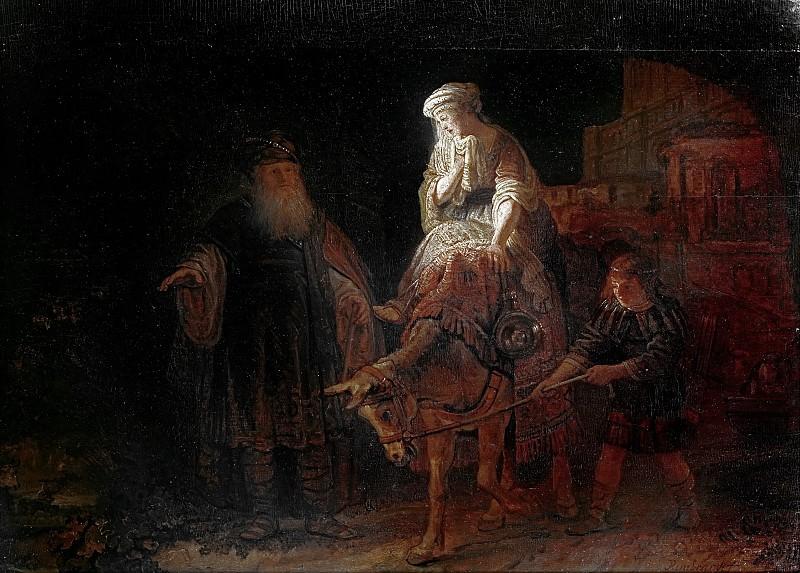 The expulsion of Hagar (attr.). Rembrandt Harmenszoon Van Rijn