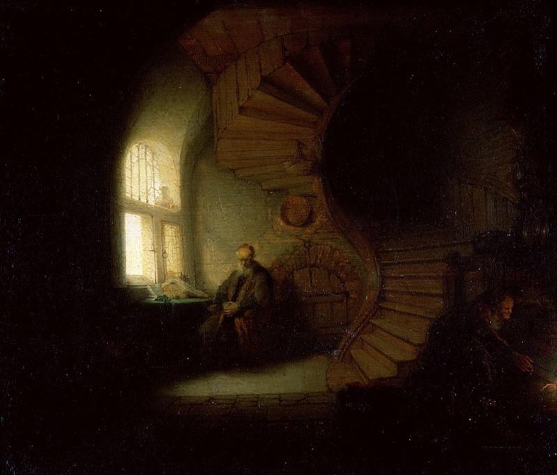 Philosopher in Meditation (attr). Rembrandt Harmenszoon Van Rijn