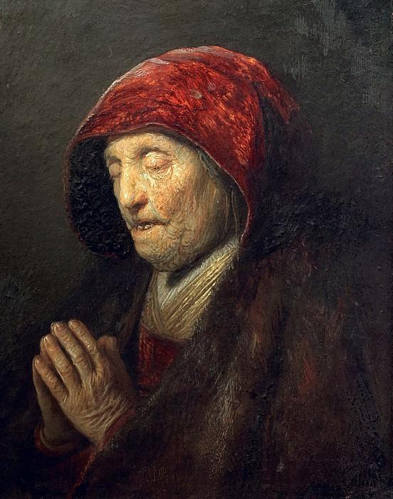 Rembrandts mother praying. Rembrandt Harmenszoon Van Rijn