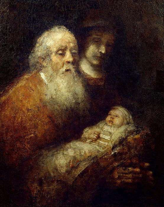 Simeon with the Christ Child in the Temple. Rembrandt Harmenszoon Van Rijn