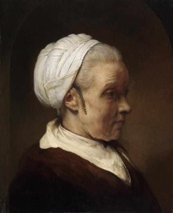 Elderly Woman in a White Cap. Rembrandt Harmenszoon Van Rijn
