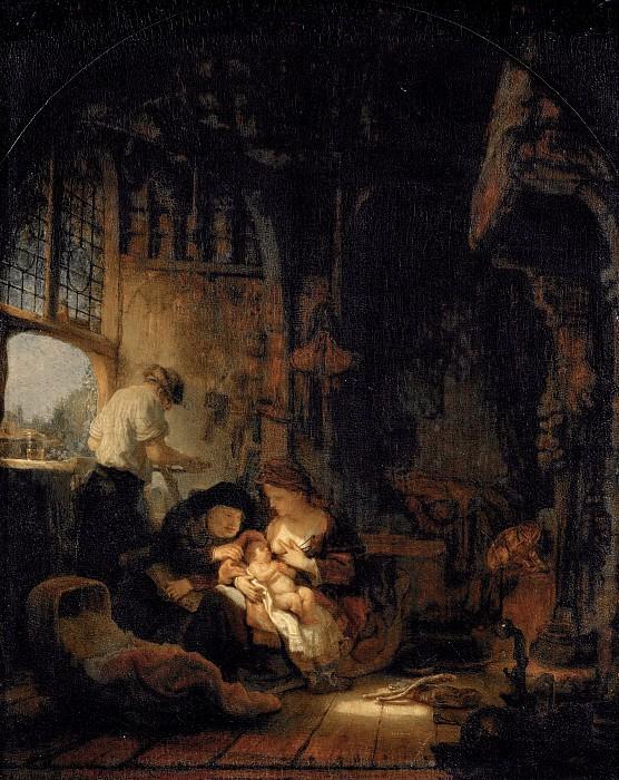 THE HOLY FAMILY (studio). Rembrandt Harmenszoon Van Rijn