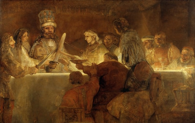 The Conspiration of the Bataves. Rembrandt Harmenszoon Van Rijn