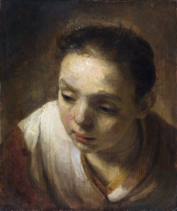 Head of a Girl. Rembrandt Harmenszoon Van Rijn