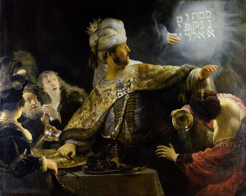 Belshazzar's Feast. Rembrandt Harmenszoon Van Rijn