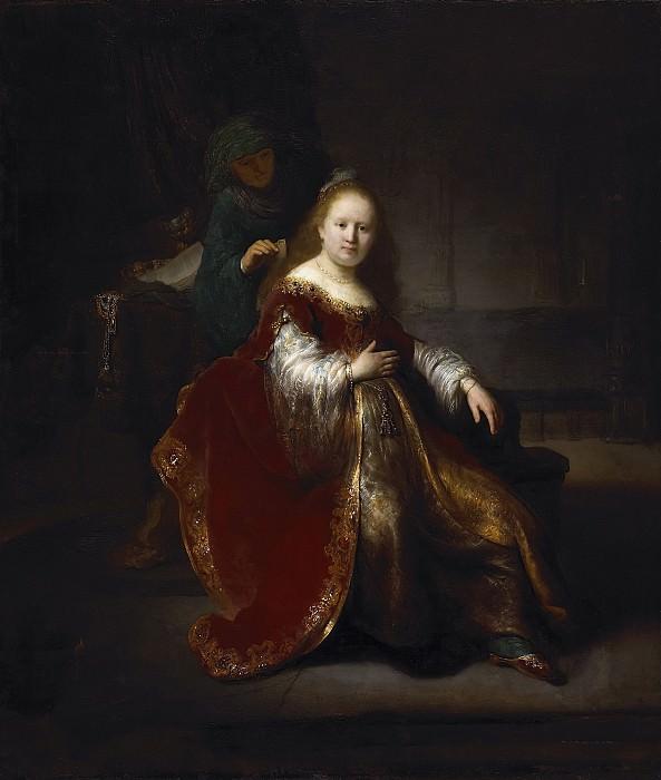 A Woman at Her Toilet. Rembrandt Harmenszoon Van Rijn