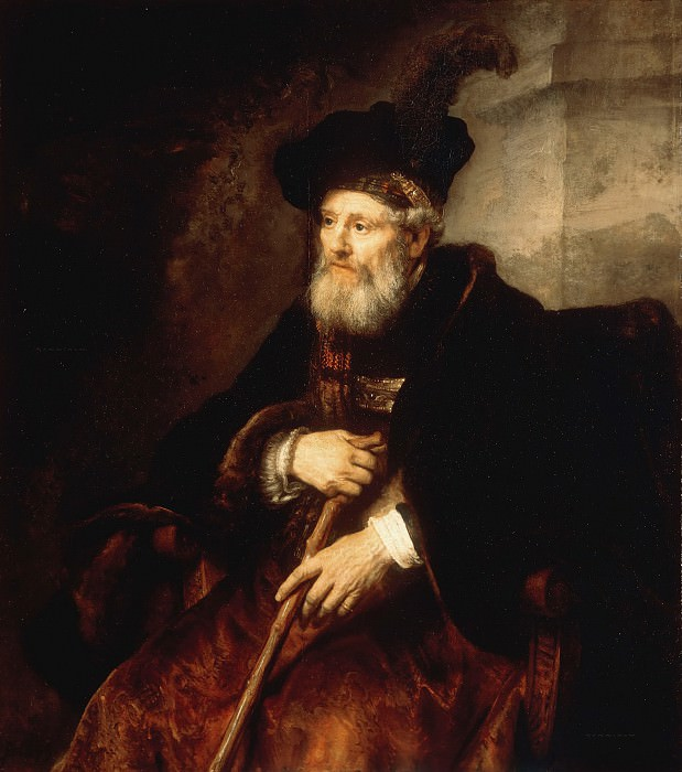 Portrait of a seated old man. Rembrandt Harmenszoon Van Rijn