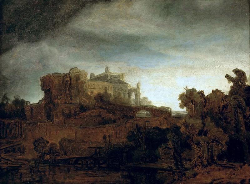 Landscape with a Castle. Rembrandt Harmenszoon Van Rijn