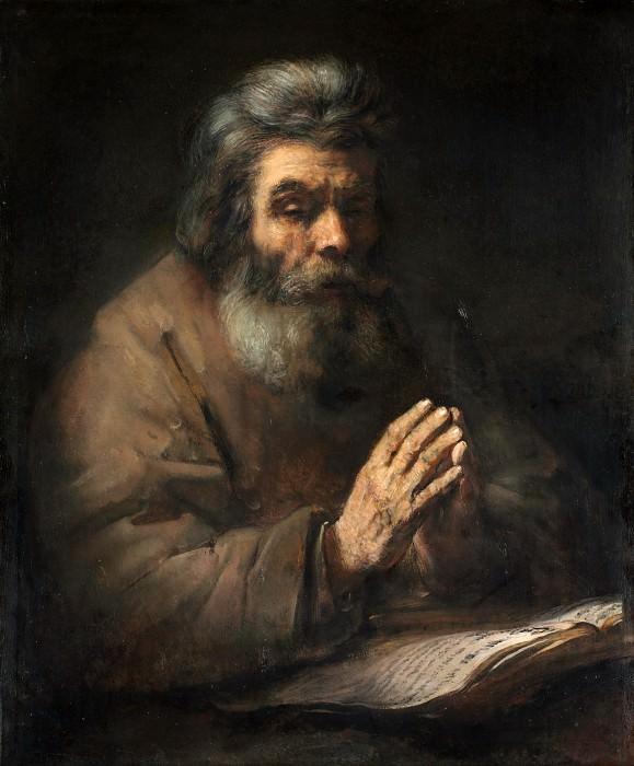 Old man praying. Rembrandt Harmenszoon Van Rijn (follower)
