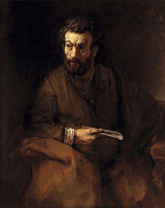 The apostle Bartholomew. Rembrandt Harmenszoon Van Rijn