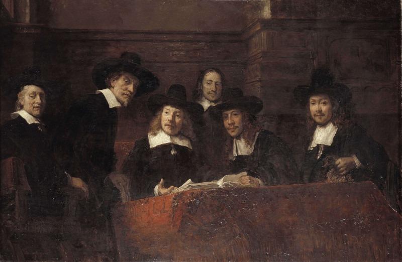 Staalmeesters. Rembrandt Harmenszoon Van Rijn (After)