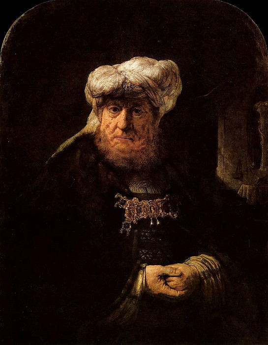 The King Uzziah Stricken with Leprosy. Rembrandt Harmenszoon Van Rijn