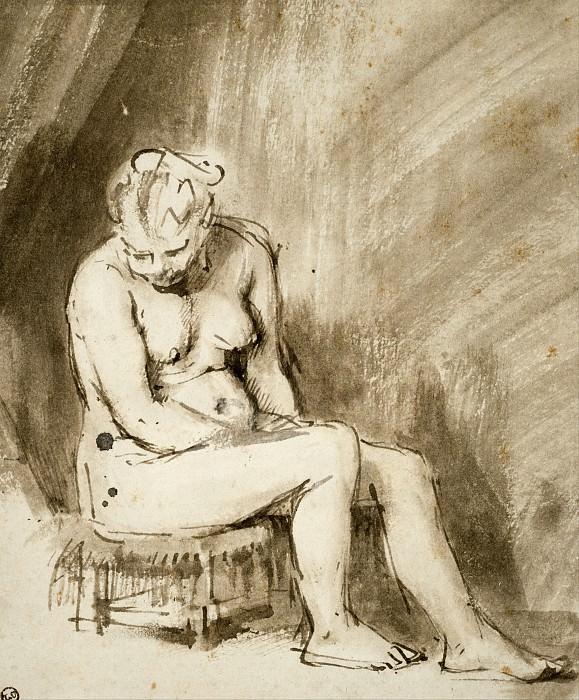 Обнаженная на стуле. Рембрандт Харменс ван Рейн