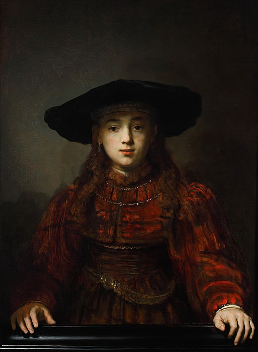 Girl in a Picture Frame. Rembrandt Harmenszoon Van Rijn