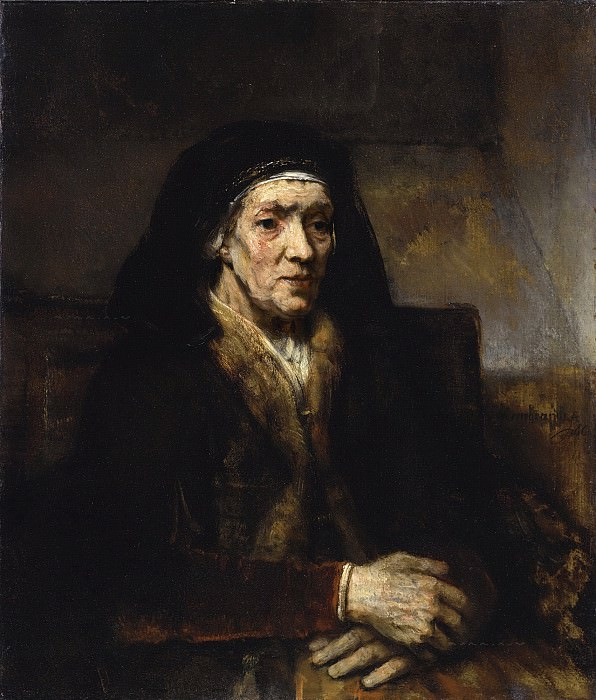 Portrait of a Seated Woman with her Hands Clasped. Rembrandt Harmenszoon Van Rijn