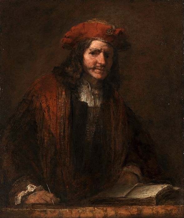 The Man with the Red Cap. Rembrandt Harmenszoon Van Rijn