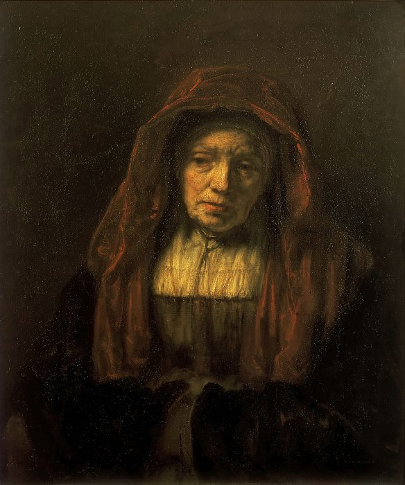 Старушка в платке (аттр.). Рембрандт Харменс ван Рейн