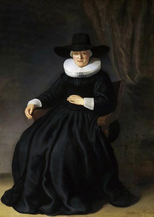 Maria Bockenolle, wife of Johannes Elison. Rembrandt Harmenszoon Van Rijn